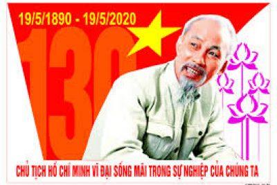 Chào mừng kỷ niệm 130 năm ngày sinh Chủ tịch Hồ Chí Minh (19/5/1890-19/5/2020)