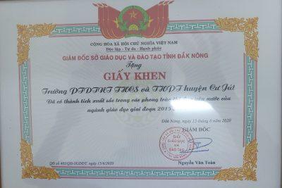 Khen thưởng thành tích thi đua yêu nước của ngành giáo dục giai đoạn 2015-2020
